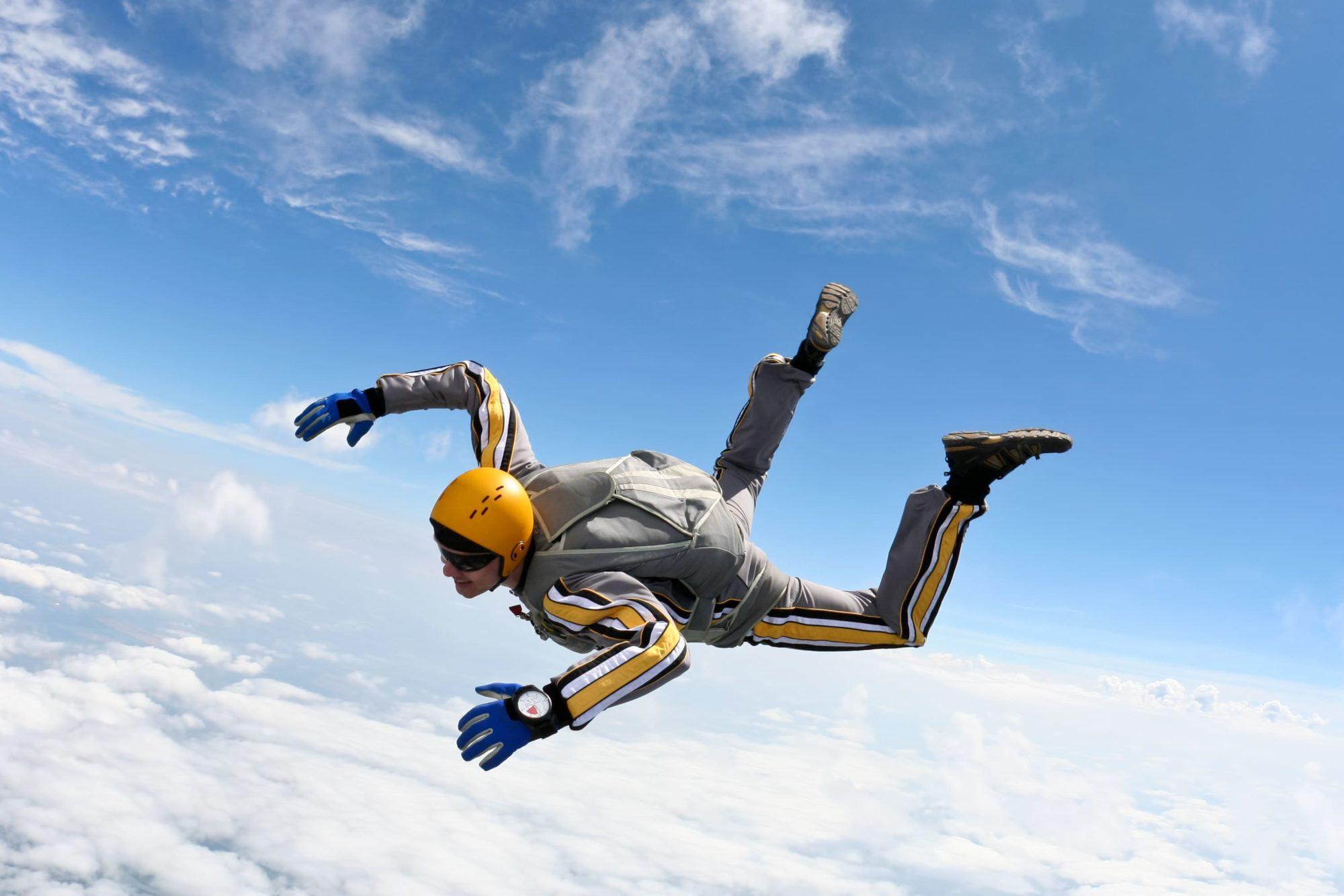 sport keuring parachute springen bij de sportarts van sport medisch centrum papendal